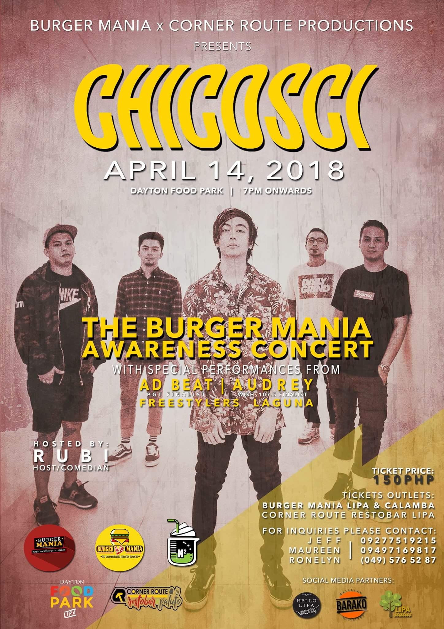 The Burger Mania Awareness Concert